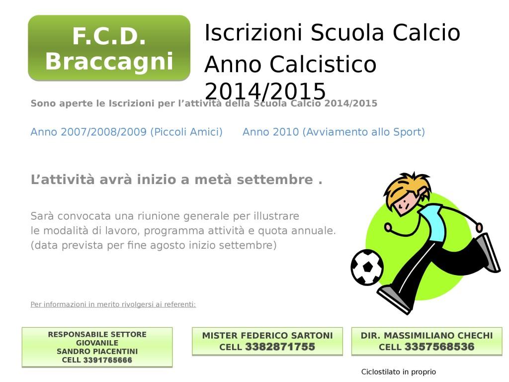 Locandina x Scuola Calcio